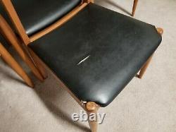 Set of 4 Cherry Mid Century Modern Danish Modern Dining Chairs MCM
