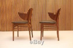 Set of 4 Hans Olsen style dining chairs teak danish mid century modern eames vtg