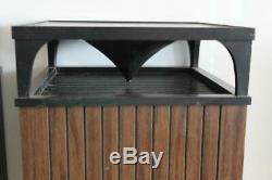 Set of Vintage Mid Century Modern Style Wood Omni Directional Speakers