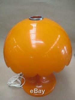 Table lamp, retro funk, bright orange, vintage, mid-century