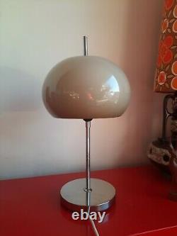 VINTAGE 70s MIDCENTURY GUZZINI STYLE TABLE MUSHROOM LAMP LIGHT Brown #3268 retro
