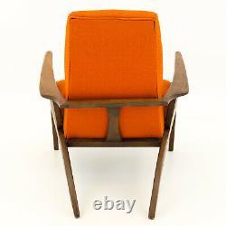 VTG MCM Mid Century Modern Orange Lounge Chair furniture