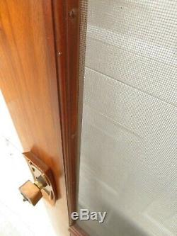 VTG Mid Century CUSTOM MADE WALNUT SCREEN DOOR for HOUSE EXTERIOR Retro Hardware
