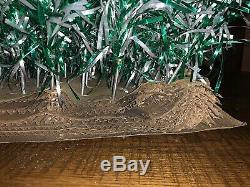 VTG Revlis Starlite 6' Green Silver Aluminum Christmas Tree Mid Century 1950's