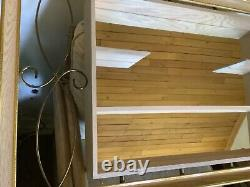 VTg MID CENTURY MODERN ATOMIC SHADOWBOX MIRROR DISPLAY Wall hanging mcm shelf