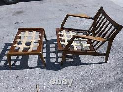 Very Rare MID Century Modern Selig Arm Chair & Ottoman