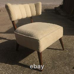 Vintage 1950's Mid Century Danish Wood Chair Accent Retro Atomic Lounge
