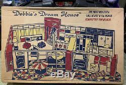 Vintage 1960's Debbie's Dream House Doll DeLuxe Mid Century Big 27 X 17 Box