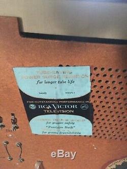Vintage 1960's RCA VICTOR Swivel Television MID CENTURY MODERN MCM