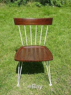 Vintage 1960s Woodard table 4 chairs dinette set mid century modern