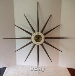 Vintage 36 Roxhall Germany MID Century Modern Starburst-sunburst Wall Clock