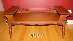 Vintage 50's/60's Unique Multi-Level Wood Mid Century Coffee Table