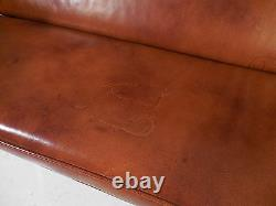 Vintage 50's Eames Herman Miller Leather Compact Sofa Mid 20th Century Modern