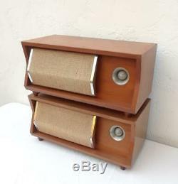 Vintage 50s JBL Bel Aire Loud Speakers 1950s Mid Century 1957 D42020 Pair