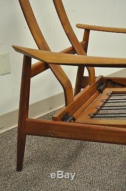 Vintage Arne Vodder FD-164 Teak Mid Century Danish Modern Reclining Lounge Chair
