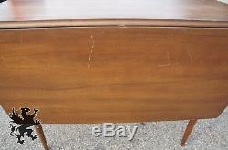 Vintage Broyhill Sculptra Drop Leaf Dining Table Mid Century Modern Walnut