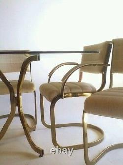 Vintage Cantilever Baughman Dining Mid Century Modern Table Brass Gold Z Dining