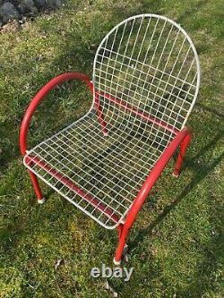 Vintage Chair Mid Century Modernist Memphis Style Design Garden 1970's 1980's