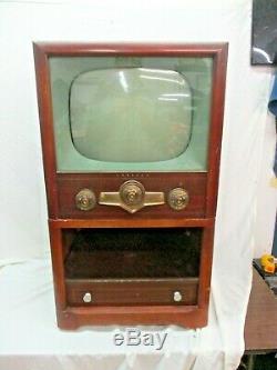 Vintage Crosley Antique 1950s TV Television Console Mid Century Prop Art