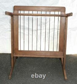 Vintage Danish Design Mid Century Modern Lounge Arm Chair Wood Slats Low