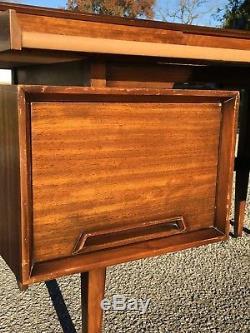 Vintage Drexel Perspective Desk Milo Baughman Mid Century Modern Floating Design