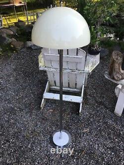 Vintage Floor Lamp Acrylic Dome Chrome Mid Century Modernist