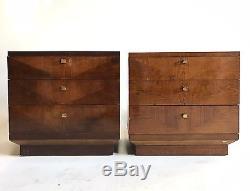Vintage Henredon Atomic Wood End Table Night Stand MID Century Danish Modern Mod