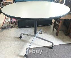 Vintage Herman Miller Eames ET 102 36 Round Conference Table Mid Century Modern