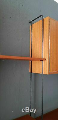 Vintage Hilker Omnia Wandregal String Regalsystem mid century 60er Teak