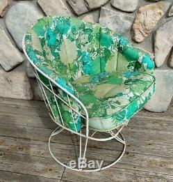 Vintage Homecrest Mid Century Patio Swivel Barrel Lounge Chair