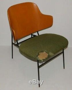 Vintage Ib Kofod Larsen Penguin Chair Lounge Danish Mid Century Modern