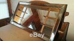 Vintage Illinois Moulding Co. Mid Century Mirroredshadow Box Mirror