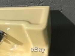 Vintage Light Yellow Rheem Richmond Bathroom Sink Wall Mounted Mid Century 1957
