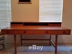 Vintage Lovig Teak Desk Dansk Danish Mid Century Modern Peter Nielsen Flip Top