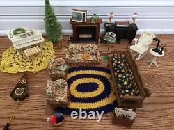 Vintage Lundby Sweden Furnished 4-STORY Mid-Century Modern Miniature Dollhouse