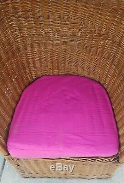 Vintage MCM Wicker Rattan Scoop Egg Dome Chair Boho Retro Mid Century Modern