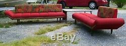 Vintage MID Century Modern Gondola Style Sectional Sofa Adrian Pearsal/ Madison