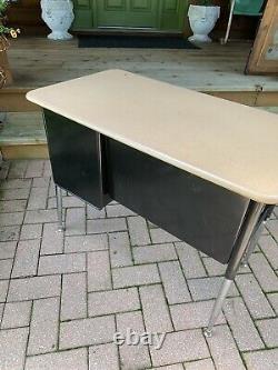 Vintage Metal Melsur Mid Century School Desk Adjusted Height