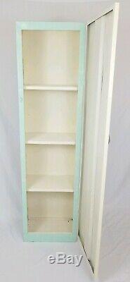 Vintage Metal Storage Cabinet Kitchen Steel Cupboard Mid-Century Industrial