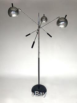 Vintage Mid Century 3 Arm Floor Chrome Ball Lamp Arredoluce Sonneman Triennale