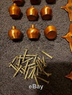 Vintage Mid Century Atomic Starburst Cabinet Knobs Drawer Pulls