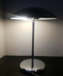 Vintage Mid Century Chrome Mushroom Table Lamp Atomic Space Age Sonneman Kovacs