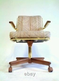 Vintage Mid Century Danish Modern Brass BOHO Chair Office Cantilever Baughman