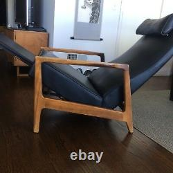 Vintage Mid-Century Danish Modern Recliner Lounge Chair, Baughman style