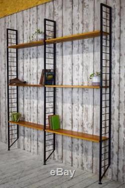 Vintage Mid Century Danish Style Ladderax Shelving Shelves Bookcase Shop Display