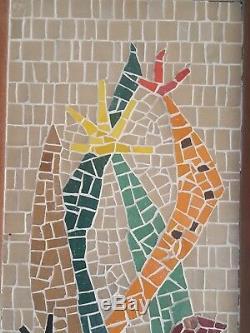 Vintage Mid-Century EVELYN ACKERMAN ERA Mosaic Tile HOT BIRD