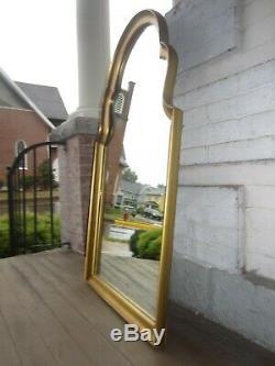 Vintage Mid Century Gold Mirror Large wood VGC 44 x 24