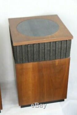 Vintage Mid-Century Harmon Kardon Hk-50 Omni-Directional Speakers A Pair