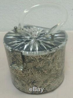 Vintage Mid Century Lucite Purse Gilli Originals Gray Pearl & Silver Confetti