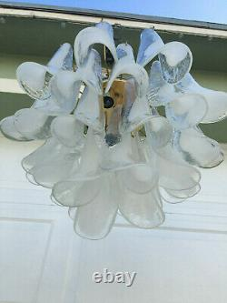 Vintage Mid Century MURANO Glass Tulip Chandelier